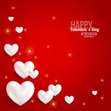 Valentines Day Card Design with Hearts for Holiday Stock Photo