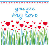 Valentines day card design. Royalty Free Stock Image