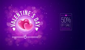 Valentines Day Card Design Royalty Free Stock Image