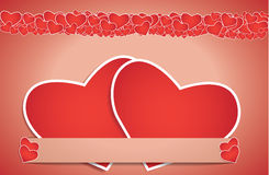 Valentines Day card - EPS10. Valentines day card with paper heart, vector background eps 10 stock illustration