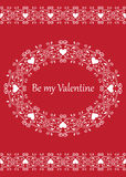 Valentines day card Stock Photos