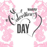 Valentines day  card with floral elements Royalty Free Stock Photos