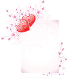 Valentines Day Card with flowers Royalty Free Stock Image