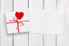 Valentines Day card and gift box royalty free stock photo