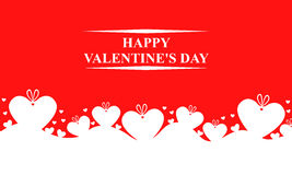 Valentines day card with gifts hearts Royalty Free Stock Photography