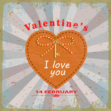 Valentines day card Royalty Free Stock Images