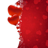 Valentines Day Card With Heart And Blur Stock Photography