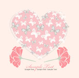 Valentines day card with heart Royalty Free Stock Image