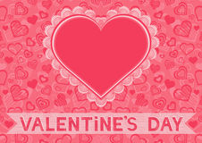 Valentines day card with heart frame Royalty Free Stock Photos