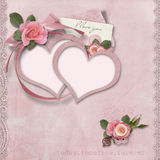 Valentines day card with heart-frames Royalty Free Stock Photos