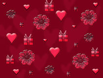 Valentines Day card heart Stock Photography