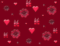 Valentines Day card heart Royalty Free Stock Photography