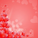 Valentines Day Card with Heart Shaped Balloons, Stock Photography
