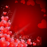 Valentines Day Card with Heart Shaped Balloons, Stock Photos