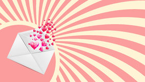 Valentines Day Card with Heart Shaped Balloons, Stock Image