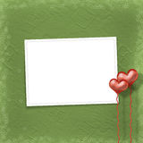 Valentines day card with hearts Stock Photo