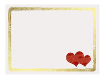 Valentines day card with hearts. On the white isolated background Royalty Free Stock Image