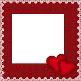 Valentines day card with hearts. On the abstract blue background Royalty Free Stock Photo
