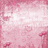 Valentines day card with hearts Stock Photos