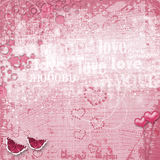 Valentines day card with hearts Stock Images