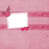 Valentines day card with hearts Stock Image