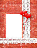 Valentines day card with hearts Royalty Free Stock Photo