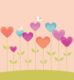Valentines Day card with hearts. Stock Photography