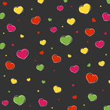 Valentines day card. With hearts. Abstract background Royalty Free Stock Photo