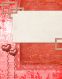 Valentines day card with hearts to holiday Stock Photo