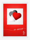 Valentines day card with hearts and words of love on white background. EPS 10 Royalty Free Stock Images