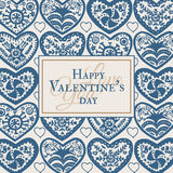Valentines Day card with illustrated ornamental Heart Royalty Free Stock Image