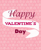 Valentines Day card. Interesting Valentine`s Day vector card. Tender and cute Royalty Free Stock Image