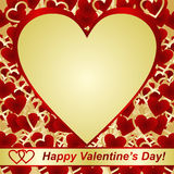 Valentines Day. Card or a label. Royalty Free Stock Images