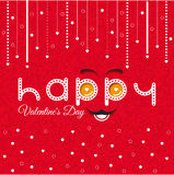 Valentines Day Card Lettering Red Frame Stock Photo