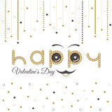 Valentines Day Card Lettering Red Frame Royalty Free Stock Image