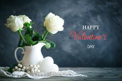 Valentines day card. Mother`s day. Selective focus, stock image