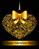 Valentines day card with ornamental heart Stock Photos