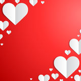 Valentines Day card with paper hearts in the Royalty Free Stock Photography