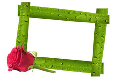 Valentines day card and photo frame Stock Photo