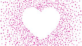 Valentine background with pink glitter hearts. February 14th day. Vector confetti for valentine background template. Valentines day card with pink glitter hearts Royalty Free Illustration