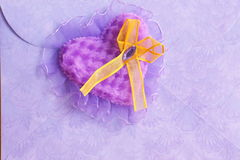 Valentines Day Card : purple heart - Stock Photos Royalty Free Stock Images