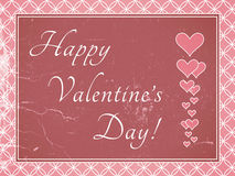 Valentines day card. Retro look. Royalty Free Stock Photo