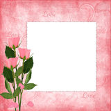 Valentines day card with rose Royalty Free Stock Images