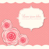 Valentines Day Card with Rose Flowers, Vector Royalty Free Stock Images