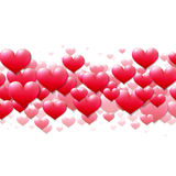 Valentines Day card with scattered purple hearts Royalty Free Stock Photography
