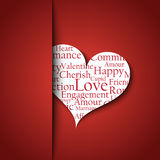 Valentines Day card template Royalty Free Stock Photos