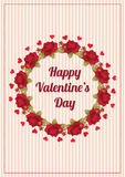 Valentines day card template Stock Photos