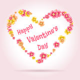 Valentines day card Stock Photography