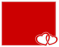 Valentines day card with two hearts. Royalty Free Stock Photo