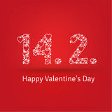 Valentines day card typography Stock Photos